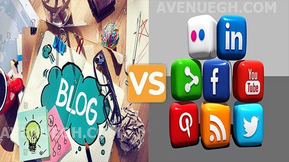 Beginners Guide To Blogging Blog-vs-Social-media