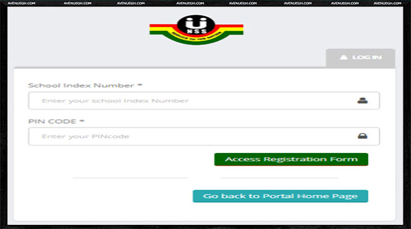 National Service Online Registration-registration-page