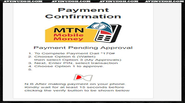 National Service Certificate Request Procedures - Payment Approval