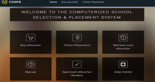 BECE-SHS-CSSPS-placement-Homepage