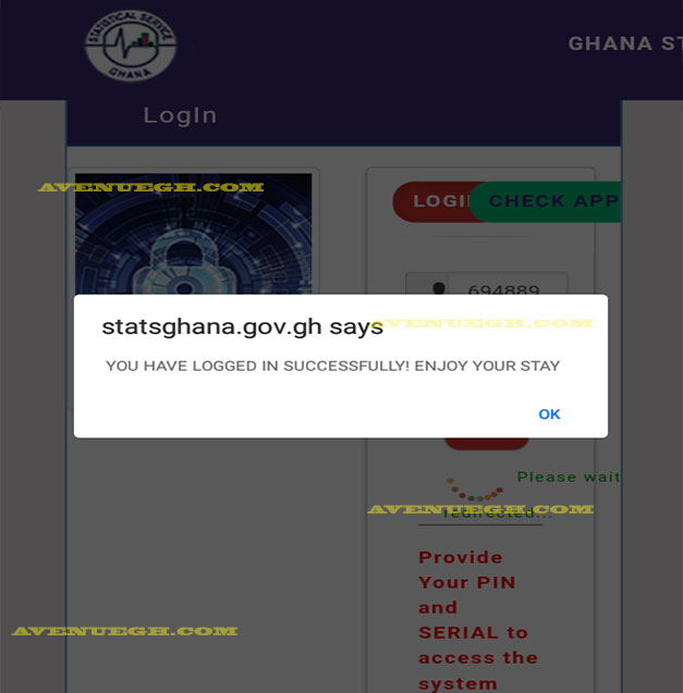 Ghana-Statistical-service-loged-in