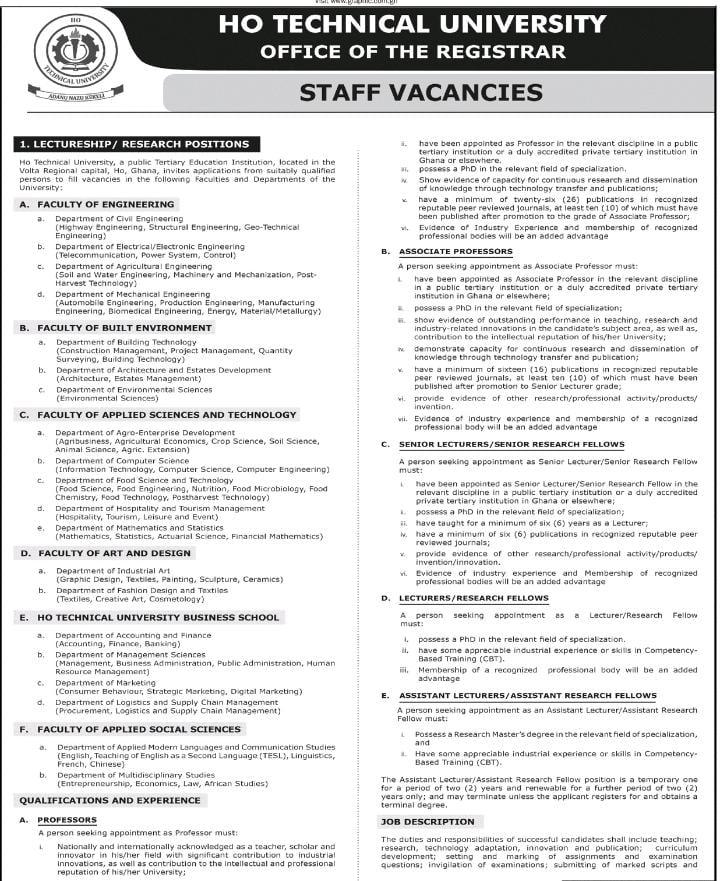 Ho Tech Uni Vacancy 1