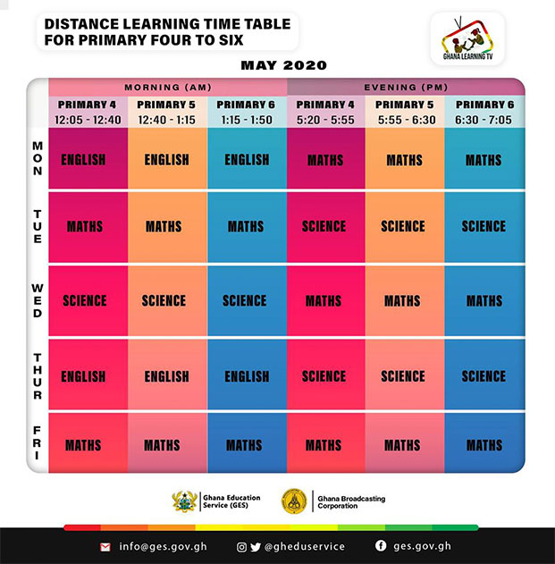 GLTV-Time-Table-Primary-4-To-6