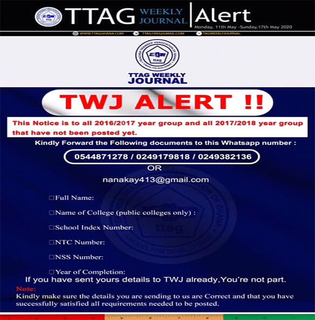 TTAG-Weekly-Journal-Notice